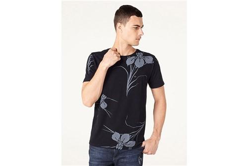 Camiseta Big Flower - Preto - G