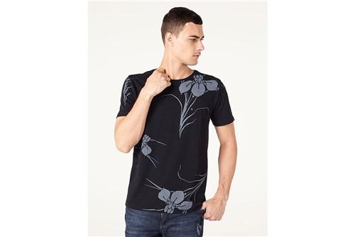 Camiseta Big Flower - Preto - M