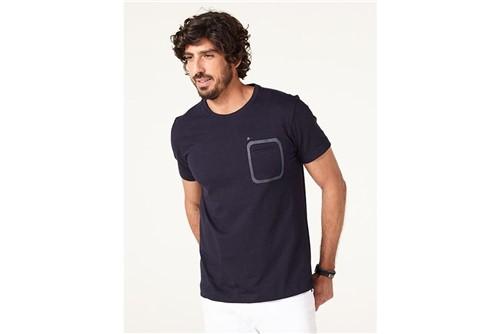 Camiseta Bolso Relevo - Marinho - M