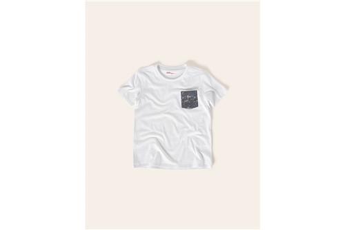 Camiseta Boys Bolso Camuflado - Branco - 02