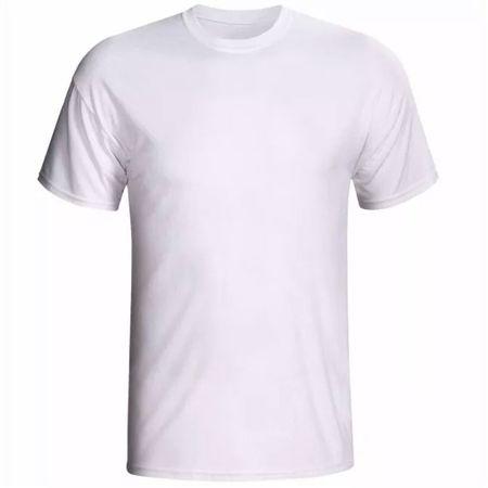 Camiseta Branca 100% Algodão Toque de Pêssego Tamanho 10