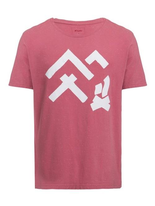 Camiseta Cabana de Algodão Rosa Tamanho G