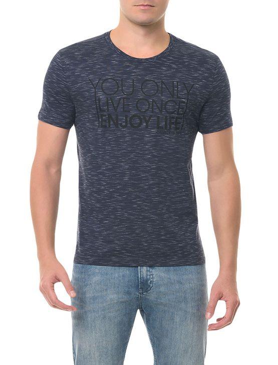 Camiseta Calvin Klein Jeans You Only Azul Escuro CAMISETA CKJ MC ESTAMPA YOU ONLY - AZUL ESCURO - GGG