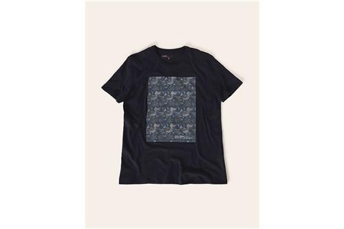 Camiseta Camuflado Pixel - Marinho - P