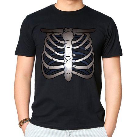 Camiseta Caveira Esqueleto P-PRETO
