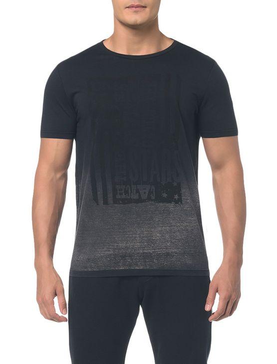 Camiseta Ckj Mc Bandeira - Preto - PP