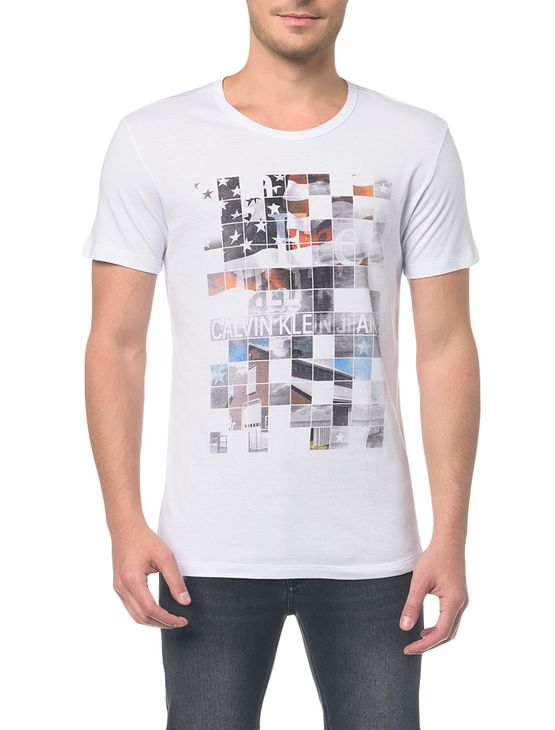 Camiseta Ckj Mc Est Band. Quadriculada - PP