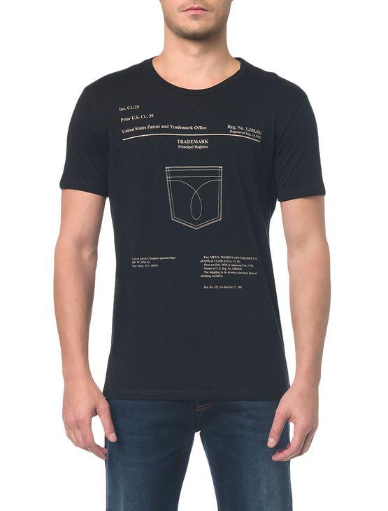 Camiseta Ckj Mc Est Bolso - PP