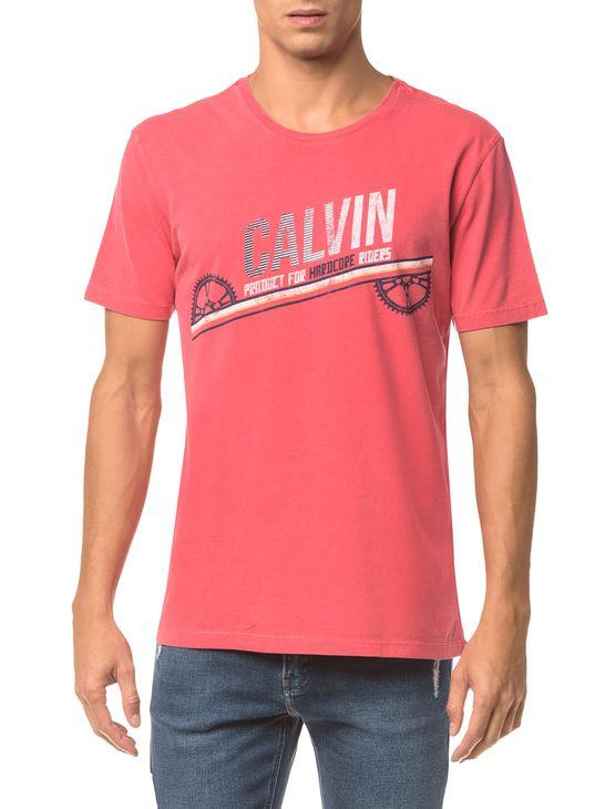 Camiseta Ckj Mc Est. Calvin Engrenagem - Vermelho - M