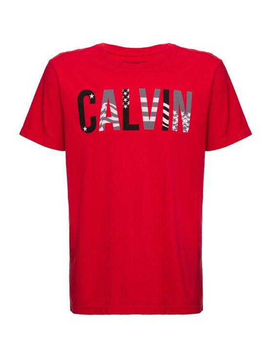 Camiseta Ckj Mc Est Calvin Usa - Vermelho - 2