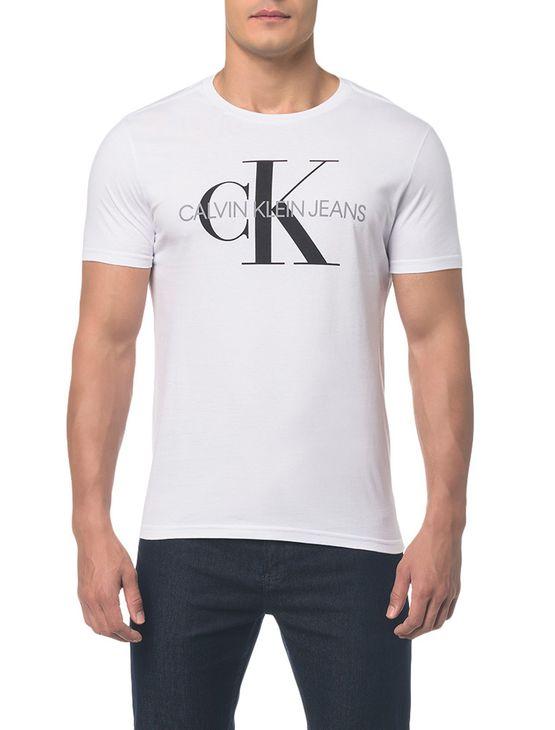Camiseta Ckj Mc Est Ck - Branca - P