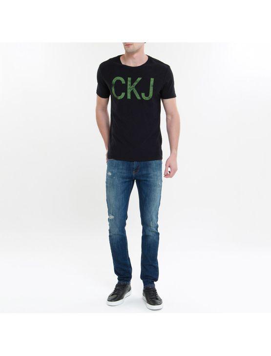 Camiseta Ckj Mc Est Ckj - Preto - PP