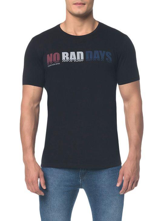 Camiseta Ckj Mc Est no Bad Days - Preto - PP