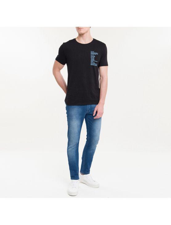 Camiseta Ckj Mc Est Ny Street Style - Preto - PP