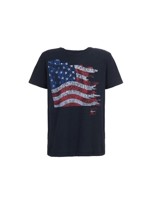 Camiseta CKJ MC Estampa Bandeira - 4