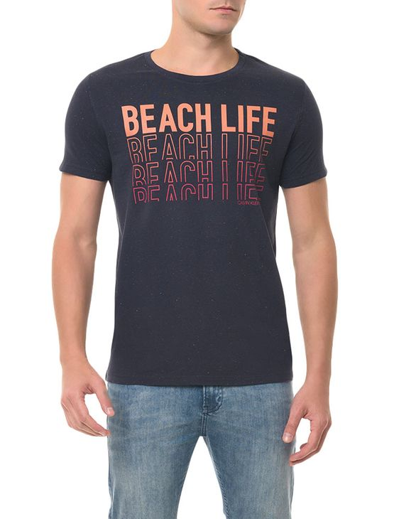 Camiseta CKJ MC Estampa Beach Life Azul Escuro Camiseta Ckj Mc Estampa Beach Life - Azul Escuro - P