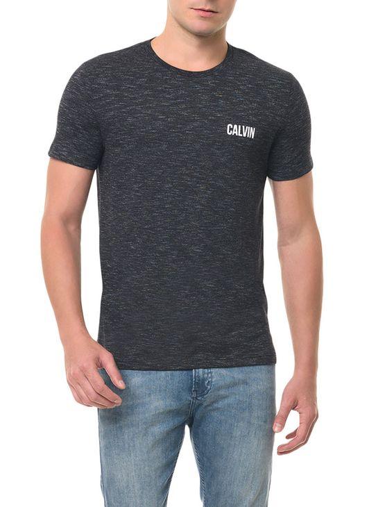Camiseta CKJ MC Estampa Calvin Preta CAMISETA CKJ MC ESTAMPA CALVIN - PRETO - GGG