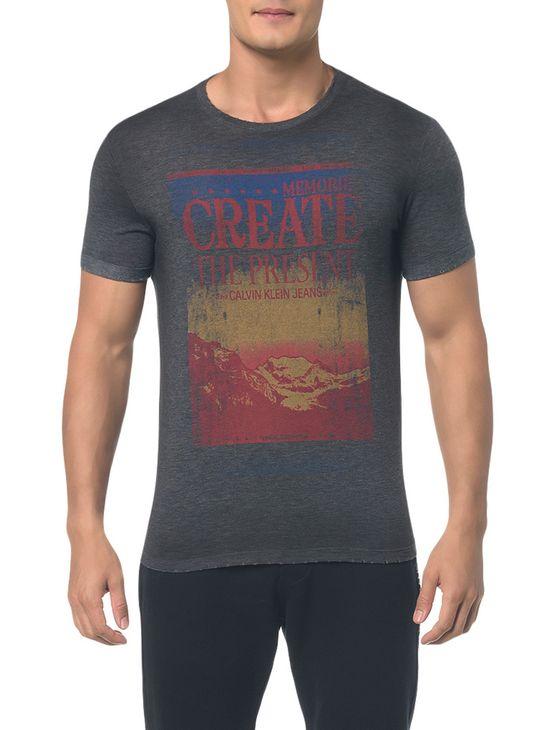 Camiseta Ckj Mc Estampa Create - Preto - Pp