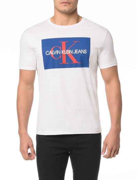 Camiseta Ckj Mc Estampa Etiqueta Ck - Gg