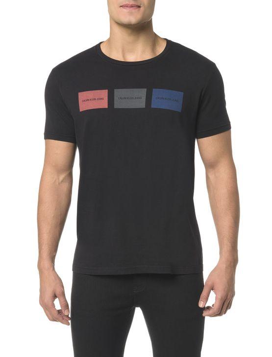 Camiseta CKJ MC Estampa Etiquetas - PP