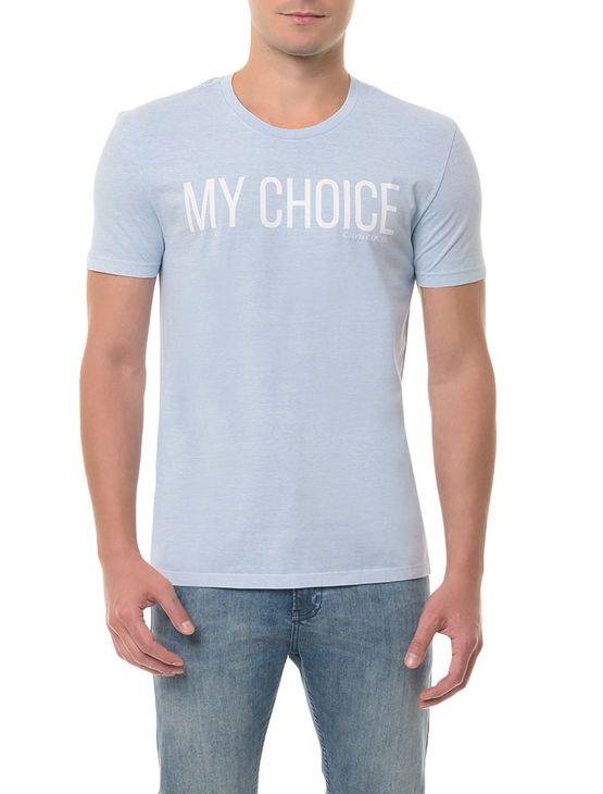 Camiseta CKJ MC Estampa My Choice Azul Claro CAMISETA CKJ MC ESTAMPA MY CHOICE - AZUL CLARO - G
