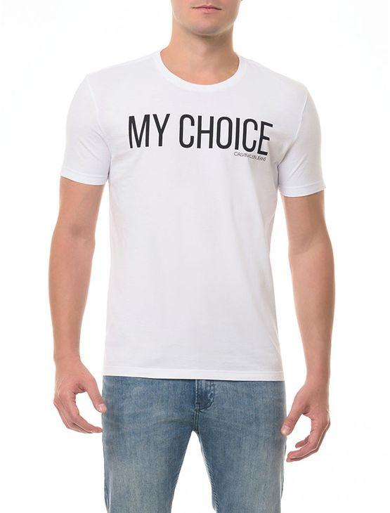 Camiseta CKJ MC Estampa My Choice Branca CAMISETA CKJ MC ESTAMPA MY CHOICE - BRANCO 2 - GG