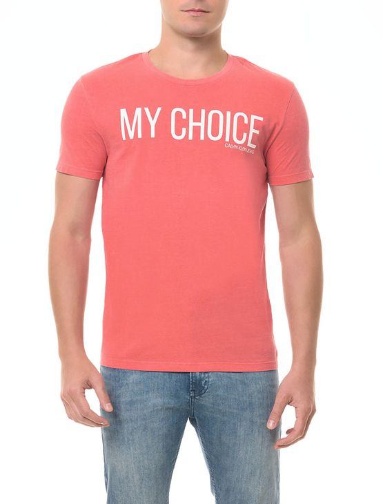 Camiseta CKJ MC Estampa My Choice Vermelha CAMISETA CKJ MC ESTAMPA MY CHOICE - VERMELHO - P