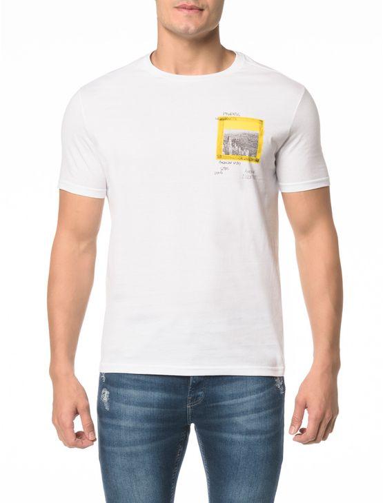 Camiseta Ckj Mc Estampa Peito Quadrado - M