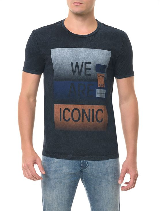 Camiseta CKJ MC Estampa Preta Camiseta Ckj Mc Estampa - Preto - P