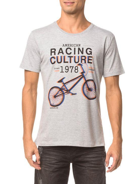 Camiseta Ckj Mc Estampa Racing Culture - Mescla - M