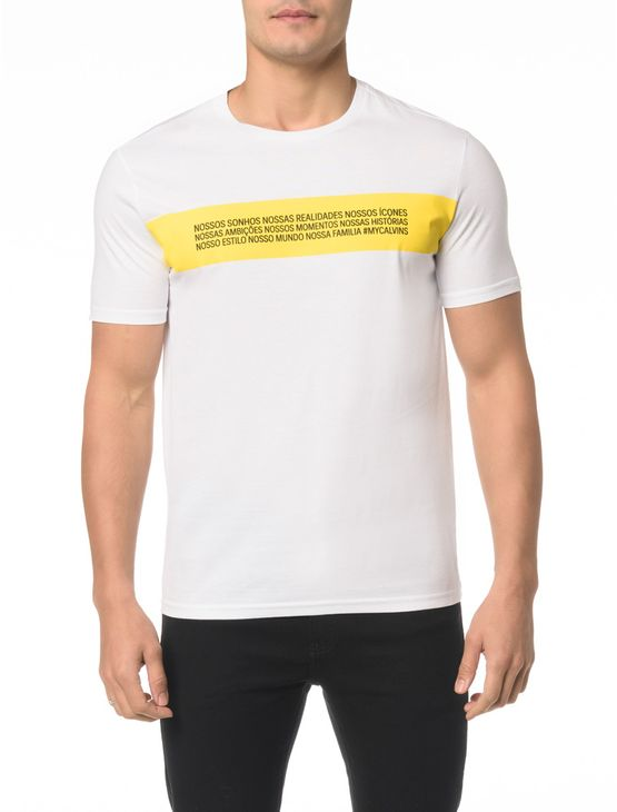 Camiseta CKJ MC Estampa Reveillon - P