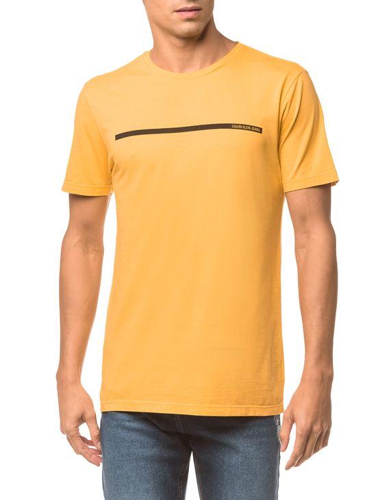 Camiseta Ckj Mc Logo Palito - Amarelo Ouro - P
