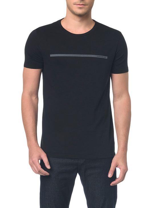 Camiseta Ckj Mc Logo Palito Preto Camiseta Ckj Mc Logo Palito - Preto - P