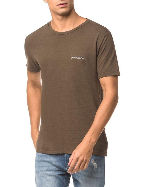 Camiseta Ckj Mc Logo Peito - Oliva - M