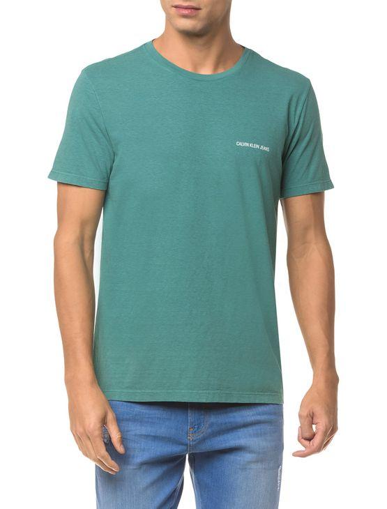 Camiseta Ckj Mc Logo Peito - Verde - M
