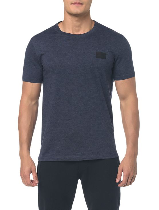 Camiseta Ckj Mc Termocolante Couro - Marinho - Ggg