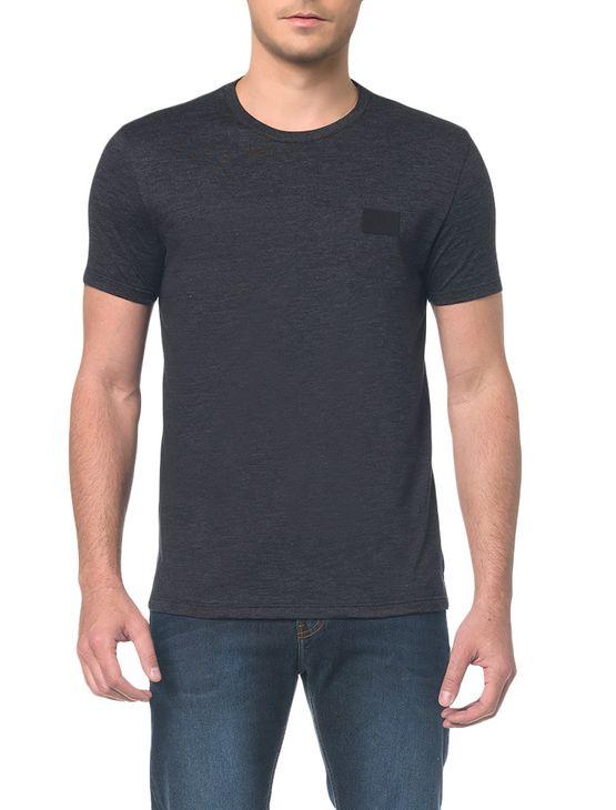 Camiseta Ckj Mc Termocolante Couro - Preto - Pp