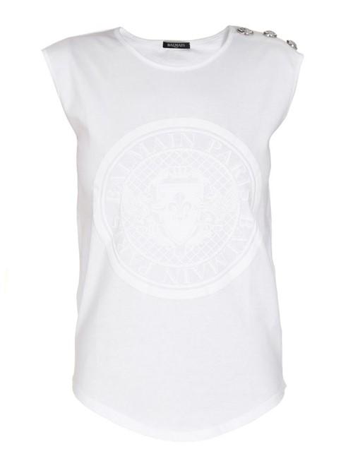Camiseta Coin Botões Branca Tamanho 36