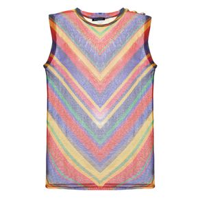 Camiseta Colorida Balmain Estampado/40