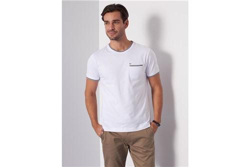Camiseta com Bolso - Branco - XGG