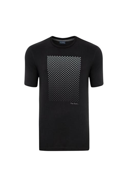 Camiseta com Silk Preta Modem M