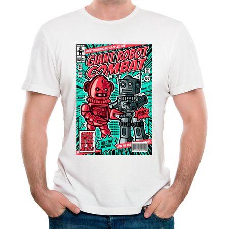 Camiseta Combate de Robôs Gigantes P - BRANCO