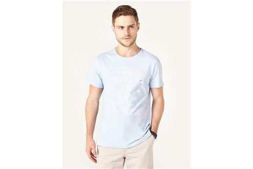 Camiseta Coqueiro Listrado - Azul - G