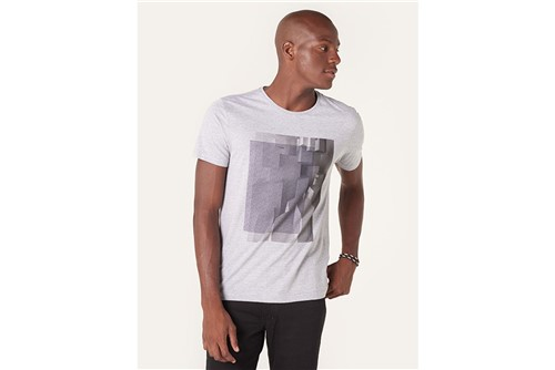 Camiseta 3d Lines - Cinza - P