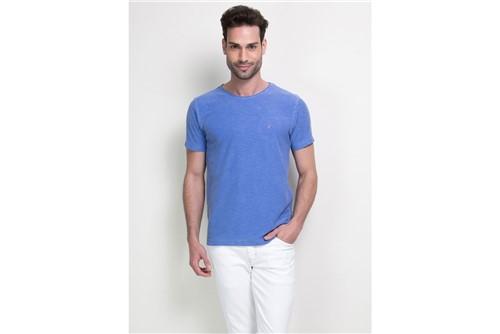 Camiseta Decote Careca Básica - Azul - XGG