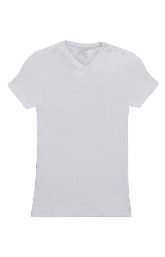 Camiseta Decote V Malwee Kids Branco - 10