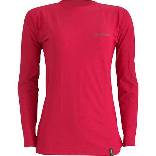 Camiseta Dry Cool Lady Feminina com Proteção Solar 50 Vermelha Manga Longa - Conquista