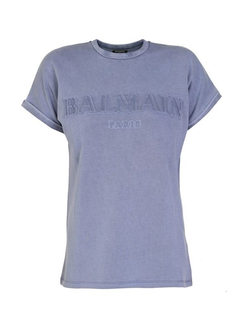 Camiseta Embossed Logo Azul Tamanho 38