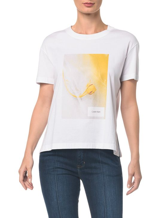 Camiseta Est. Flor Personalizada Mostarda Camiseta Est. Flor Personalizada - Mostarda - P