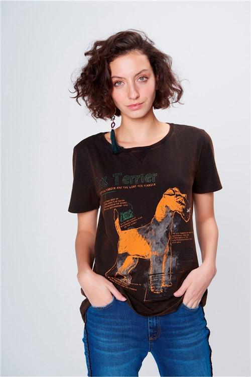 Camiseta Estampada Feminina